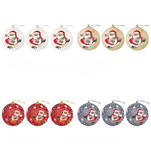 Metikkeer 12 palline di Natale ornamenti per albero di Natale, palline infrangibili, decorazioni per albero di Natale da appendere per feste di nozze