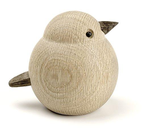 Novoform Design - Papa Sparrow - Dekofigur, Holzfigur - Spatz - Eichenholz - Maße (LxBxH): 11,5 x 9,3 x 10 cm
