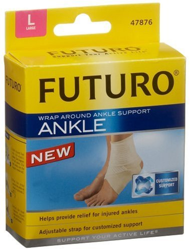 Futuro Ankle Support, Wrap Around, Large, 1 support (Pack of 3)