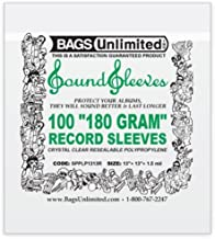 LP RECORD JACKET SLEEVE WITH RESEALABLE FLAP 13x13 - LOOSE FIT - 1.5mm THICK (PACK OF 100)