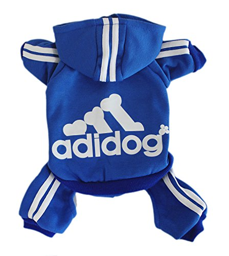 Scheppend Herbst und Winter mit Vier Beinen Hund Sweatshirts mit Kapuze,Blau XXL