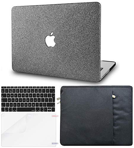 KECC MacBook Pro 13 Hülle (2020/2019/2018/2017/2016, Touch Bar) Schutzhülle Case w/EU Tastaturschutz + Tasche + Bildschirm Schutz Pro 13.3 Hulle {A2159/A1989/A1706/A1708} (Prickelnd Grau)