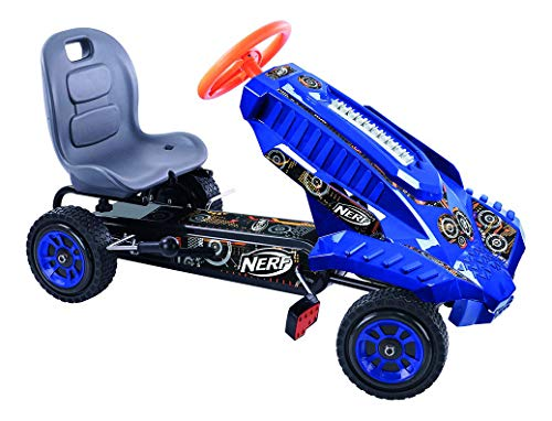 Hauck Nerf Striker Go Kart Ride On, Blue and Orange