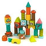 EUREKAKIDS Eureka Kids-46 Cubos de Madera, Multicolor 1301068.0