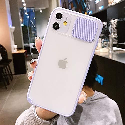 XMCJ Protección de la Lente de la cámara de Diapositivas teléfono for el iPhone 11 11 Pro MAX XR XS MAX 6S 7 8 Plus X Mate Transparente Suave Shell (Color : T2, Material : For iPhone XS MAX)