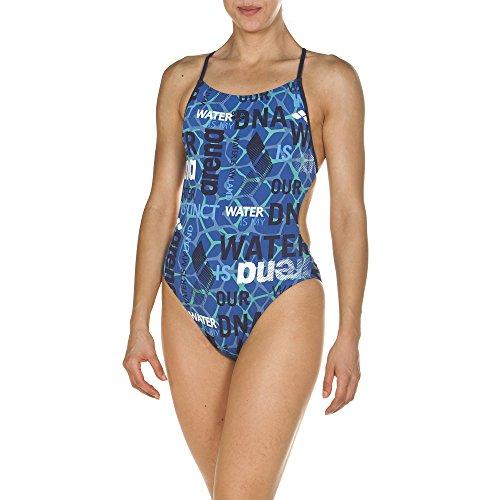 arena Damen Trainings Profi Badeanzug Evolution (Schnelltrocknend, UV-Schutz UPF 50+, Chlorresistent), Pix Blue-Navy (817), 38
