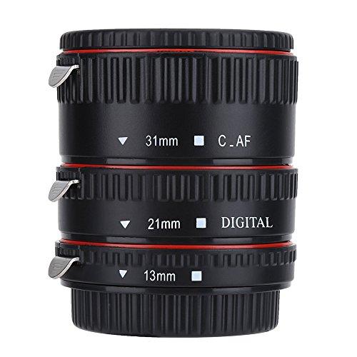 Anelli Adattatori Obiettivo Tubo di Prolunga Macro Messa a Fuoco Automatica, Adatto per Canon EOS EF Mount, 3 Anelli Formano 7 Combinazioni Diverse (13mm, 21mm, 31mm)