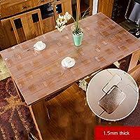 防水透明PVCテーブルクロス、厚さ1.5mm、ソフトで快適な、ダイニングテーブル、コーヒーテーブル、中庭、庭園 (色 : D, Size : 80x120cm)