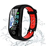 JX FITNESS Activity Tracker Multifunctional Smart Tracker with Heart Rate Step Counter Calorie Counter Sleep Monitor 1.14 inch Color Screen Long Battery Life IP68 for Kids Teens Men Women