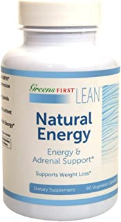 Greens First® Lean™ Natural Energy Dietary Supplement –Energy and Adrenal Support Supplement – Dietary Supplements for Weight Loss – Nutritional Supplements – 60 Capsules
