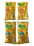 Gluten Free Kosher Pretzel Bundle: Two Bags Cauliflower: Twists and Sticks 4.5 oz Each Made with Real Vegetables and plant based ingredients that are NON GMO verified Clean ingredients make a nutritious and tasty treat. Perfect for delicious and heal...