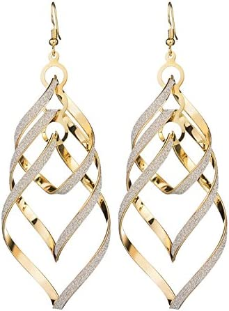 GOLD EARRINGS DROP & DANGLE LOVE & HIP-HOP STYLE COSMETIC BIG SPRING SUMMER SALE DISCOUNT