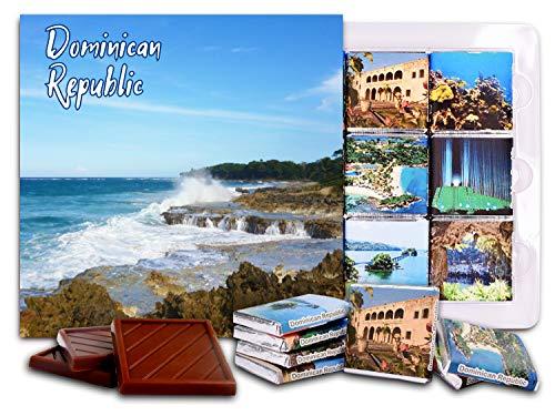 DA CHOCOLATE Candy Souvenir DOMINICAN REPUBLIC Chocolate Set 5x5' 1 box (Sea)