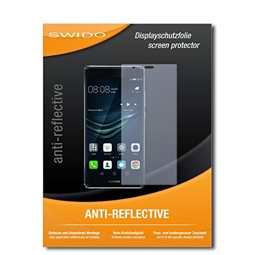 SWIDO Schutzfolie für Huawei P9 Plus [2 Stück] Anti-Reflex MATT Entspiegelnd, Hoher Festigkeitgrad, Schutz vor Kratzer/Bildschirmschutz, Bildschirmschutzfolie, Panzerglas-Folie