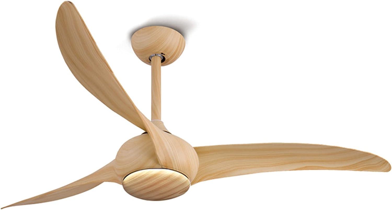 Ventilador de techo, ventilador de viento de plástico retro de tres aspas, ventilador eléctrico silencioso para sala de estar en casa, restaurante comercial, cafetería, con control remoto, veloci