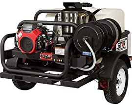 NorthStar Trailer-Mounted Hot Water Commercial Pressure Washer - 4000 PSI, 4.0 GPM, Honda Engine, 200-Gal. Water Tank