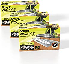 Shark VMP30 VACMOP Disposable Hard Floor Vacuum and Mop Pad Refills White, 30 Count