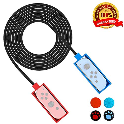 Aottom Switch Jump Rope for Nintendo Switch, Adjustable Skipping Rope Tangle-free Exercise Fitness Jumping Rope with 2 Joycon Controller Hand Grips for Jump Rope Challenge Game Accessories