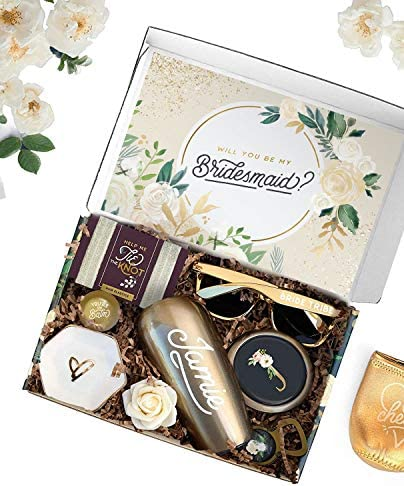 Sincerely Me Floral Personalized Be My Bridesmaid Bridesmaid Proposal Box Asking Bridesmaids product image