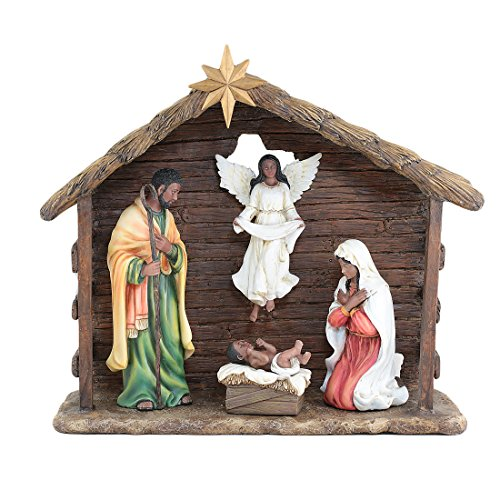 UniverSoul Gifts Unto Us a Child is Born: African American Nativity Scene (6 Piece Set)
