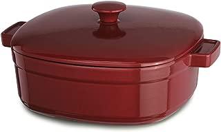 KitchenAid KCLI60CRER Streamline Cast Iron 6-Quart Casserole Cookware - Empire Red