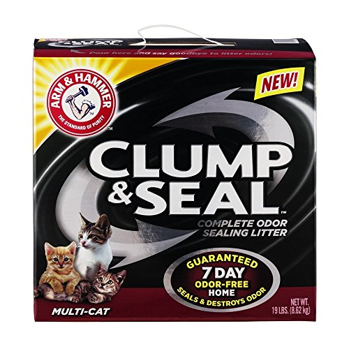 Arm & Hammer Clump & Seal Litter, MultiCat 19lb, Multicolor