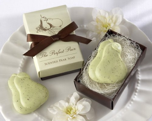 """The Perfect Pair"" Scented Pear Soap - Baby Shower Gifts & Wedding Favors (Set of 24)"