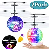 Flying Ball, 2 Pack Kids Toys Remote Controller Helicopter Infrared Induction RC Flying Toys Rechargeable Light Up Ball RC Drone Toy...