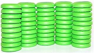 Echony Green Disc Refill Set of 50 for Nerf Vortex Ammo Refills Blaster Praxis Nitron Vigilon Proton Refill in Bulk Soft Disc Bullet Refill Blaster Darts