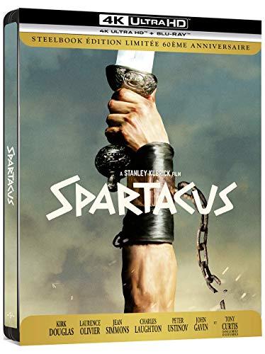 pas cher un bon Spartacus [Édition 60ème anniversaire-4K Ultra HD + Blu-Ray-Boîtier SteelBook]