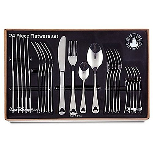 Disney Theme Park Exclusive Mickey Icon 24 Piece Flatware Set