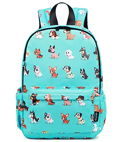 Abshoo Little Kids Dog Toddler Backpacks for Boys and Girls Preschool Backpack With Chest Strap (Dog Teal)