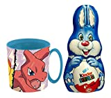 Oeuf de Pâques Lapin Kinder Surprise au Chocolat au Lait 75g & Tasse Mug 350ml Pokémon Officielle