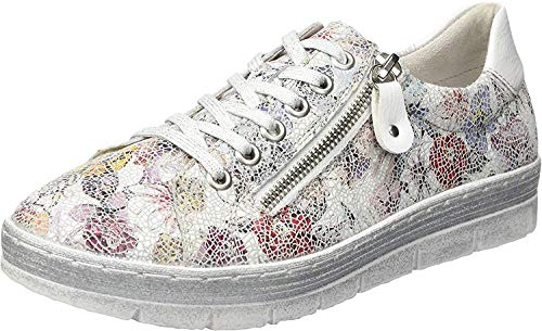Remonte Damen D5800 Sneaker, Mehrfarbig (Ice-Multi/Bianco 93), 39 EU