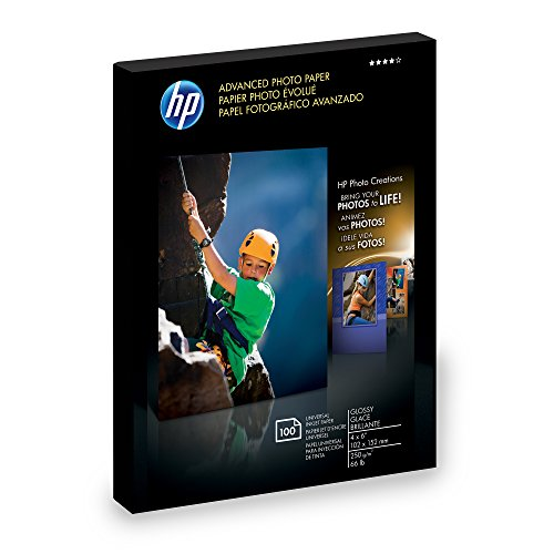 HP Photo Paper Advanced, Glossy, (4x6 inch), 100 sheets