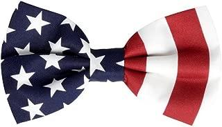 Men's American Flag Bow Tie Pre Tied USA Patriotic BOWTIE