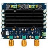 Scheda amplificatore, TPA311602 Scheda amplificatore audio digitale a doppio canale 150 W + 150 W, modulo amplificatore CC 12V-24V, rumore filtro, segnali filtro, stabilizzare corrente