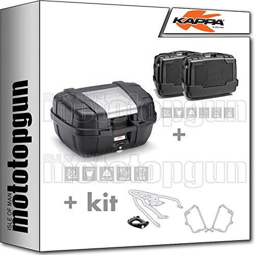 kappa maleta kgr52 + maletas laterales kgr46npack2 + portaequipaje monokey + portamaletas lateral monokey compatible con triumph bonneville t100 2020 20