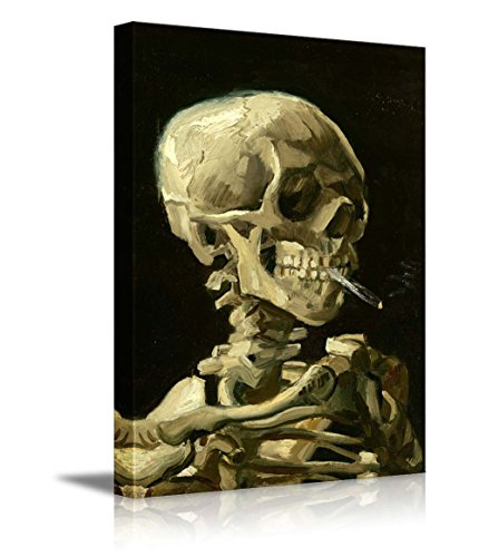 "wall26 -Skeleton by Vincent Van Gogh Painting - Canvas Art Wall Decor - 24""x36"""