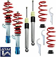 JOM Euro Height Adjustable Coilover Suspension Lowering Kit For Audi A3 8P TT 8J FWD & VW Golf GTI R Jetta MK6 MK5 Passat B6 CC Tiguan EOS Beetle A5 - Adjustable 15-90mm / 0.6