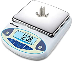 WELLiSH Lab Scale 5000g/0.01g High Precision Digital Scale Analytical Balance Electronic Scale for Kitchen Lab Weighing