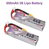 FancyWhoop 650mAh 3S LiPo Batería 60C HV 11,4V XT30 Conector Enchufe Batería...