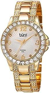 Burgi Women's Silver Dial Alloy Band Watch - Bur137Yg, Analog Display, Quartz Movement