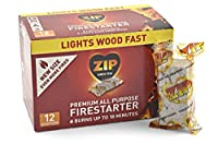 Zip Premium All Purpose Wrapped Fire Starter (Pack of 12) [並行輸入品]