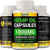 Hemp Oil Capsules - 1000mg of Pure...