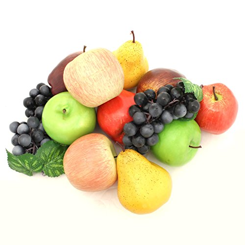 ALEKO AFA3 Decorative Lifelike Realistic Artificial Fake Fruit Decor Assortment Lot of 12