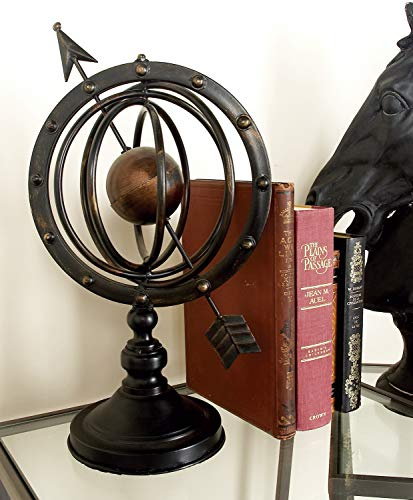 Metal Armillary Stylish Table Decor Statue