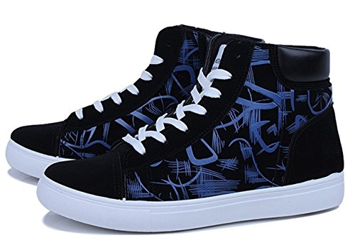[モノリリ] メンズ カジュアル ハイカット スニーカー 白黒 滑らない 靴 ジム シューズ くつ トレーニング 内履き 運動靴 室内用 室内履き ルームシューズ 黒 ダンス ミドルカット 滑りにくい レースアップ sneaker 履きやすい 柄 デザイン
