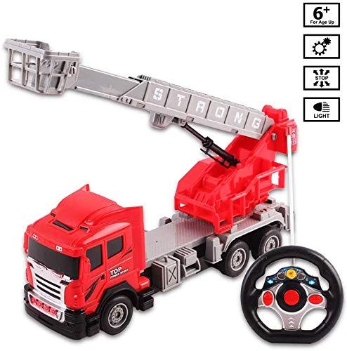 RC Feuerwehr kaufen Feuerwehr Bild 1: deAO funkgesteuertes Feuerwehrauto; Truck mit Kanälen- Voll funktionsfähiges Fahrzeug mit Fernbedienung*