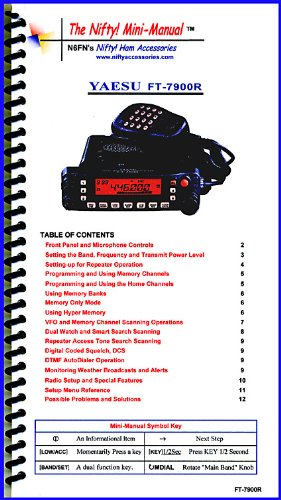 Yaesu FT-7900R Mini-Manual by Nifty Accessories. Buy it now for 22.95